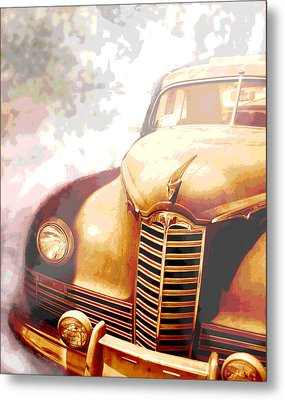 Classic Car 1940s Packard  Metal Print by Ann Powell