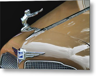 Classic Car - Buick Victoria Hood Ornament Metal Print by Peggy Collins