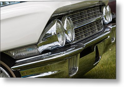 Metal Print featuring the photograph Classic Car Front Wing And Lights by Mick Flynn