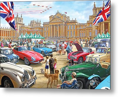 Classic Car Show At Blenheim 2015 Metal Print by Steve Crisp