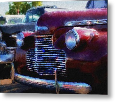Classic Chevy Water Color Metal Print