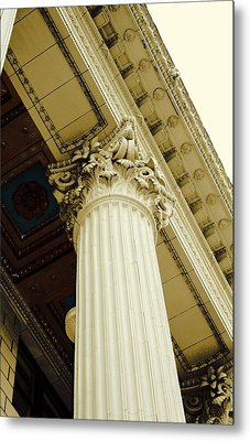 Classic Column Metal Print by Cathie Tyler