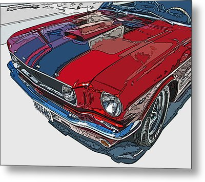 Classic Ford Mustang Nose Study Metal Print by Samuel Sheats