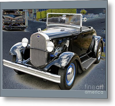 Metal Print featuring the photograph Classic Ford by Victoria Harrington