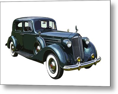 Classic Green Packard Luxury Automobile Metal Print by Keith Webber Jr
