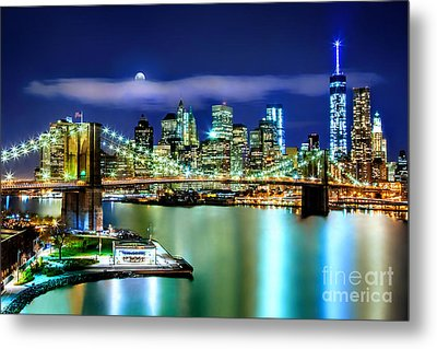Classic New York Skyline Metal Print by Az Jackson