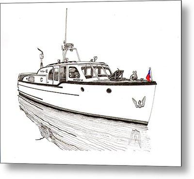 Classic Northwest Yacht Metal Print by Jack Pumphrey