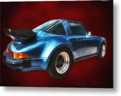 Metal Print featuring the photograph Classic Porsche ... by Chuck Caramella