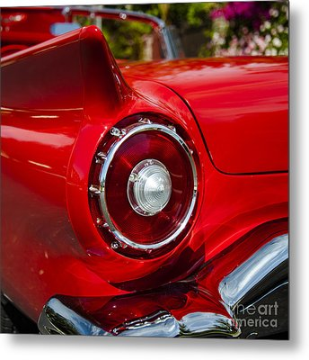Metal Print featuring the photograph 1957 Ford Thunderbird Classic Car  by Jerry Cowart