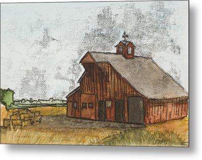 Classic Red Barn Metal Print by Hailey Jackson