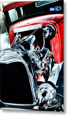 Metal Print featuring the digital art Classic Red by Erika Weber
