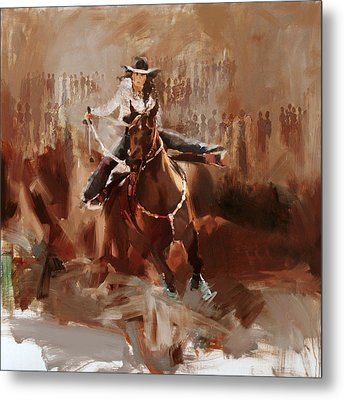 Classic Rodeo 1 Metal Print by Maryam Mughal
