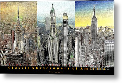 Classic Skyscrapers Of America 20130428 Metal Print by Wingsdomain Art and Photography