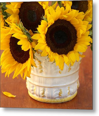 Classic Sunflowers Metal Print by Art Block Collections