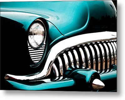 Metal Print featuring the photograph Classic Turquoise Buick by Joann Copeland-Paul