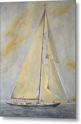 Classic Yacht Metal Print by Juan  Bosco
