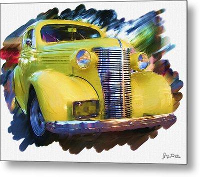 Classic Yellow Car  Metal Print
