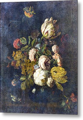 Classical Bouquet - S0104t Metal Print by Variance Collections