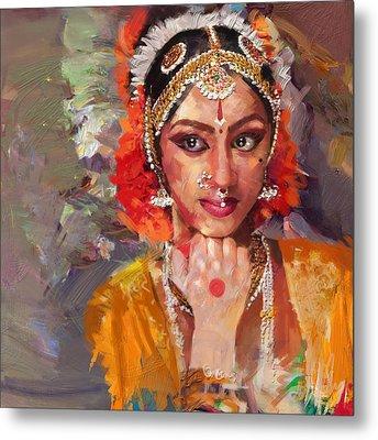 Classical Dance Art 1 Metal Print by Maryam Mughal