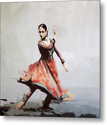 Classical Dance Art 11 Metal Print by Maryam Mughal