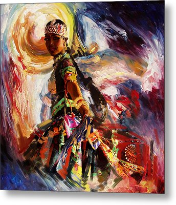 Classical Dance Art 13 Metal Print by Maryam Mughal