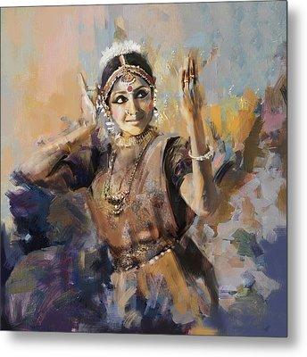 Classical Dance Art 3 Metal Print by Maryam Mughal