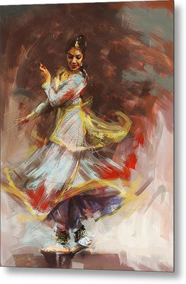 Classical Dance Art 8 Metal Print by Maryam Mughal
