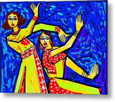 Classical Dancers Metal Print by Anand Swaroop Manchiraju