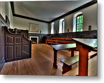 Metal Print featuring the photograph Classroom Wren Building by Jerry Gammon