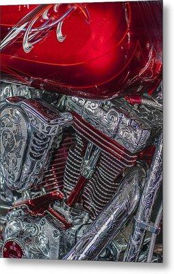 Classy Harley Davidson Metal Print by Jack Zulli
