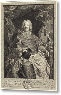 Claude Drevet After Hyacinthe Rigaud French Metal Print by Quint Lox