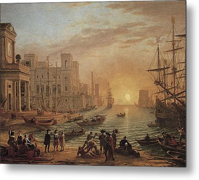 Claude Lorrain 1600-1682. Seaport Metal Print by Everett