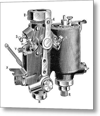 Claudel Carburettor Metal Print by Science Photo Library