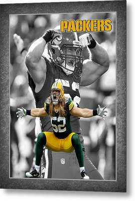 Clay Matthews Packers Metal Print by Joe Hamilton