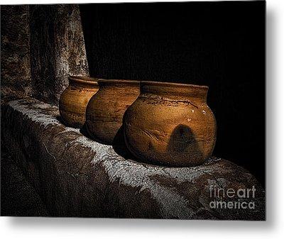 Clay Pots  ... Metal Print by Chuck Caramella