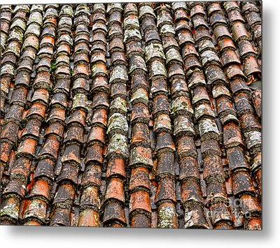 Metal Print featuring the photograph Clay Tile Roof Of A Greek Monastery by Alexandra Jordankova