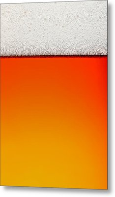 Clean Beer Background Metal Print
