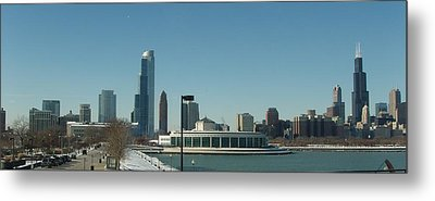 Metal Print featuring the photograph Clear Cold Chicago Day by Teresa Schomig