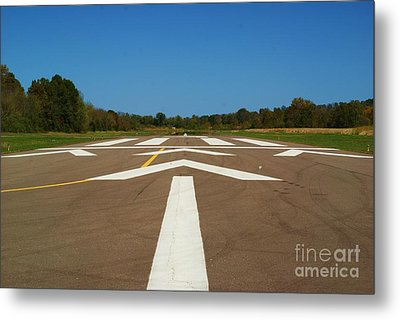 Metal Print featuring the photograph Clear For Take Off by Julie Clements