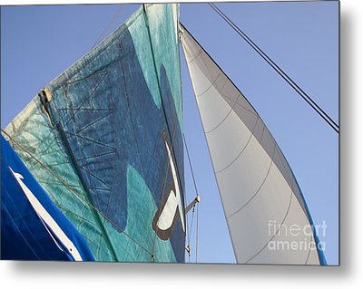Clear Skies And Full Sails Metal Print by Jennifer Apffel
