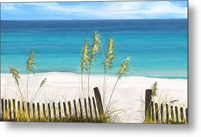 Metal Print featuring the drawing Clear Water Florida by Anthony Fishburne