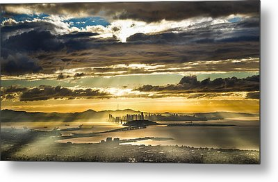 Clearing Bay Storm Metal Print by Fred Rowe