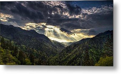 Clearing Storm Panorama Metal Print by Andrew Soundarajan