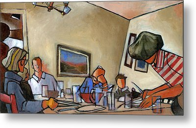 Clearing The Table Metal Print by Douglas Simonson