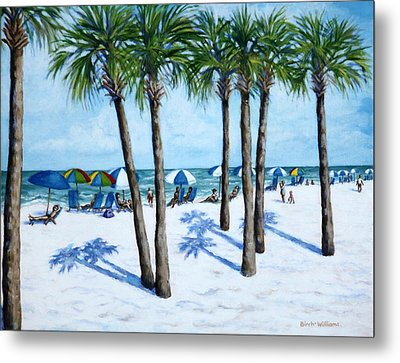 Clearwater Beach Morning Metal Print by Penny Birch-Williams