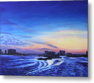 Clearwater Beach Sunset Metal Print by Penny Birch-Williams