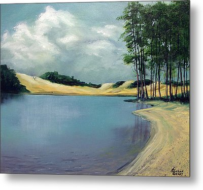 Metal Print featuring the mixed media Cleawox Lake by Kenny Henson