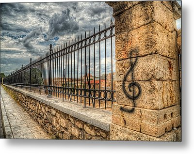 Metal Print featuring the photograph Clef At Hadrian's Library by Micah Goff