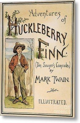 Clemens: Huck Finn, 1885 Metal Print