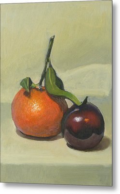 Clementine And Plum Metal Print by Peter Orrock